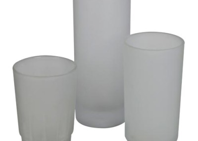 Frosted glass votive selection