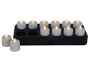 Rechargeable Induction T-Light kitCANDLE-GLOW light PRODUCT CODE meg 001